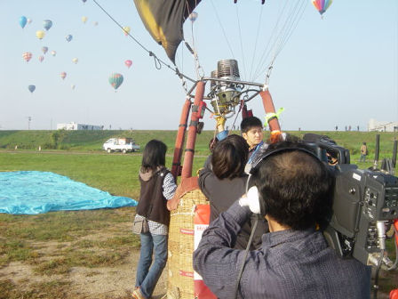 News Crew for Saga International Balloon Fiesta